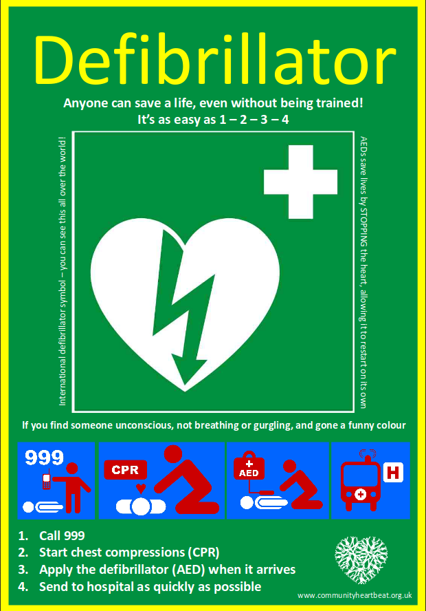 defib use poster