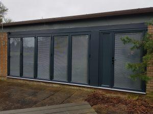 External view of the new doors & windows