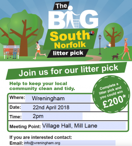 2018 notice for Village Tidy event