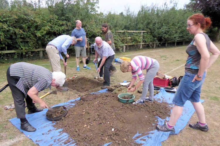 Volunteers in training
