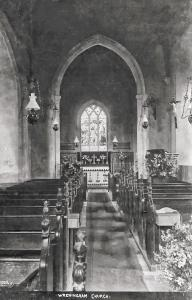 Wreningham church postcard